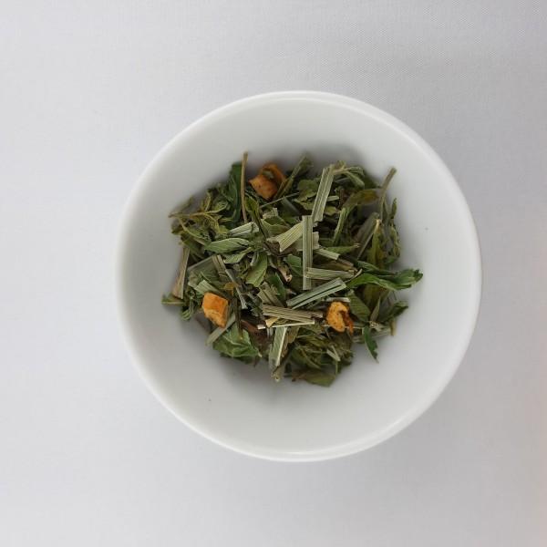 Schweizer Hanf Tee mit Grüntee und Citrus